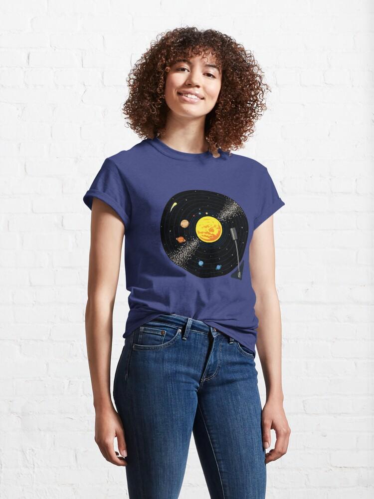 Alternate view of Solar System Vinyl Record Classic T-Shirt
