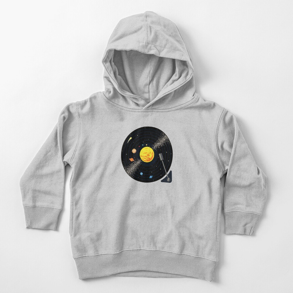 Solar System Vinyl Record Toddler Pullover Hoodie