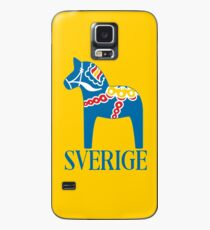Sverige Dala Dalarna Sweden Pferd Dalecarlian Swedish Dalahost Hülle & Klebefolie für Samsung Galaxy