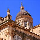Closeup of the Dubrovnik Cathedral  by Laurel Talabere