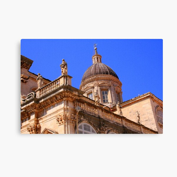 Closeup of the Dubrovnik Cathedral  Canvas Print