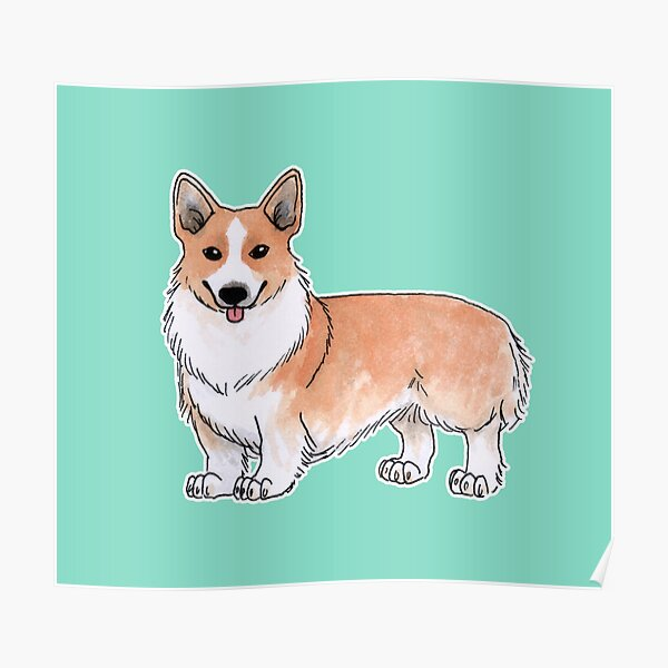 Pembroke Welsh Corgi dog Poster