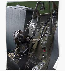 Military vehicle Radio Poster
