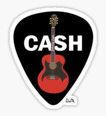 Cash Guitar and Pick Sticker