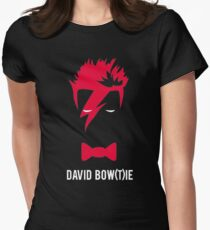 David Bow(T)ie Womens Fitted T-Shirt