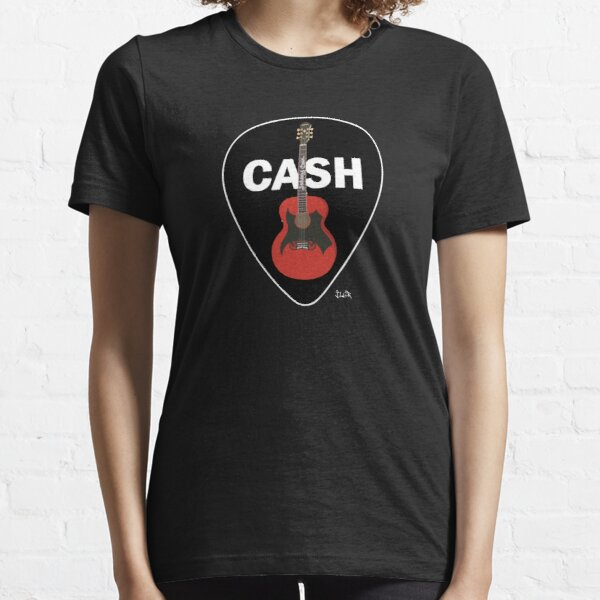Cash Guitar and Pick Essential T-Shirt