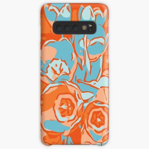 Blumen Tulpen orange-hellblau Samsung Galaxy Leichte Hülle