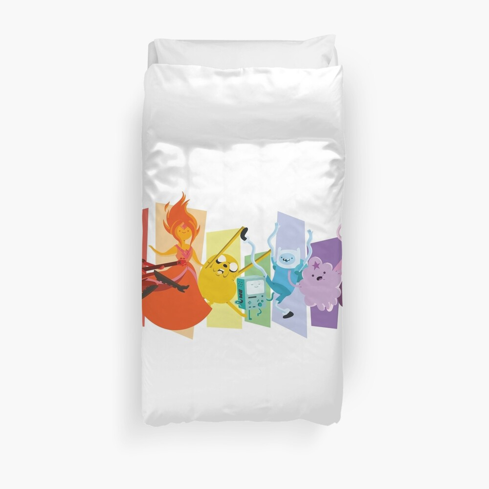 Adventure Time Rainbow! Duvet Cover