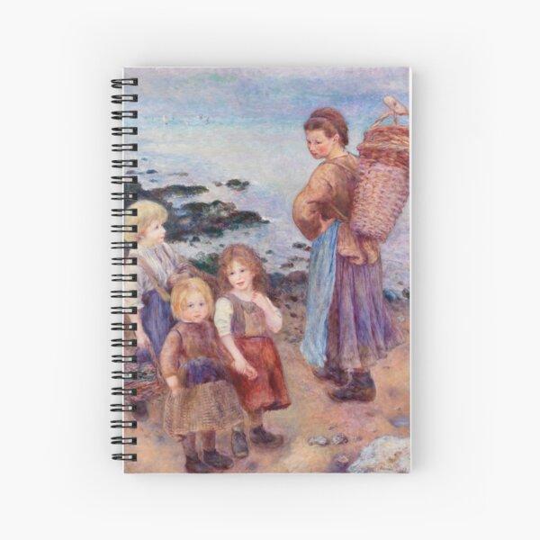 Renoir - Mussel Fishers at Berneval, 1879 Spiral Notebook