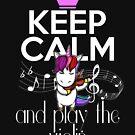 Keep Calm And Play The Violin Einhorn von Basti09