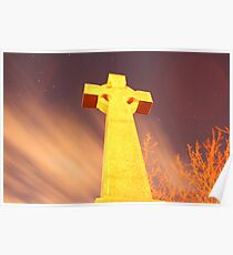 Glowing Gravestone Poster