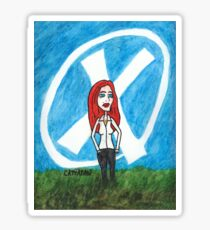 X - Marks The Scully Sticker