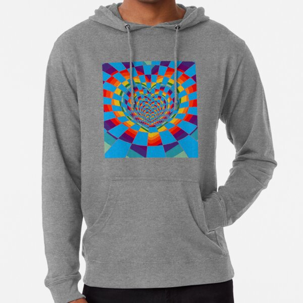 #Mosaic, #pattern, #abstract, #art, design, bright, illustration, decoration, tile, psychedelic, shape Lightweight Hoodie