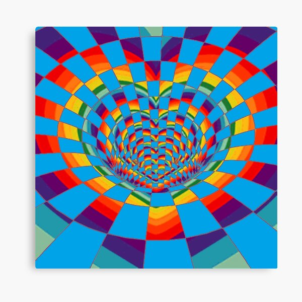 #Mosaic, #pattern, #abstract, #art, design, bright, illustration, decoration, tile, psychedelic, shape Canvas Print