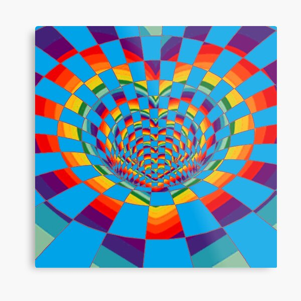 #Mosaic, #pattern, #abstract, #art, design, bright, illustration, decoration, tile, psychedelic, shape Metal Print
