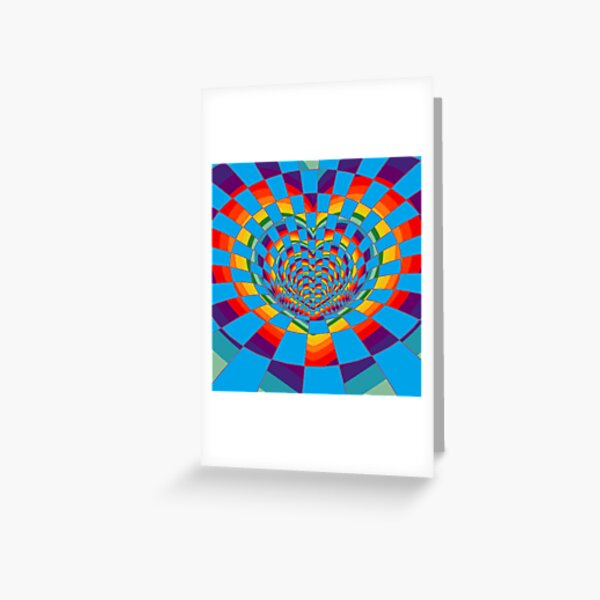 #Mosaic, #pattern, #abstract, #art, design, bright, illustration, decoration, tile, psychedelic, shape Greeting Card