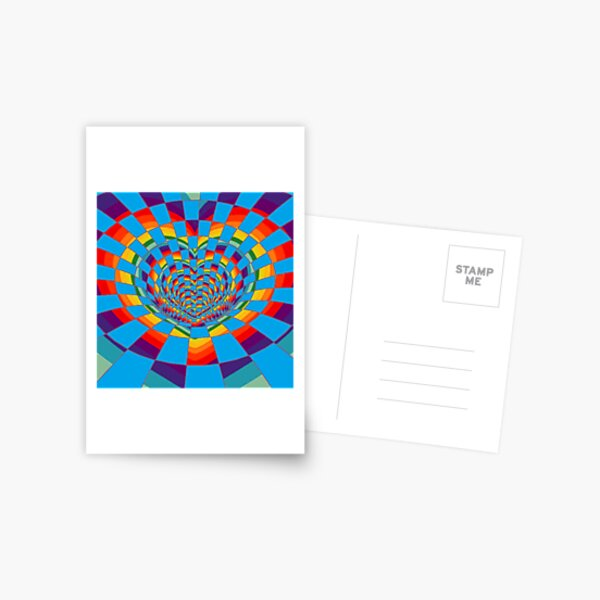 #Mosaic, #pattern, #abstract, #art, design, bright, illustration, decoration, tile, psychedelic, shape Postcard