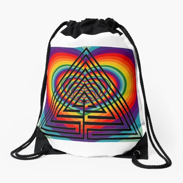 Graphic design, Field of study #Illustration, #design, #abstract, #pattern, art, decoration, shape, vector Drawstring Bag