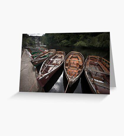 Boats, Knaresborough Greeting Card