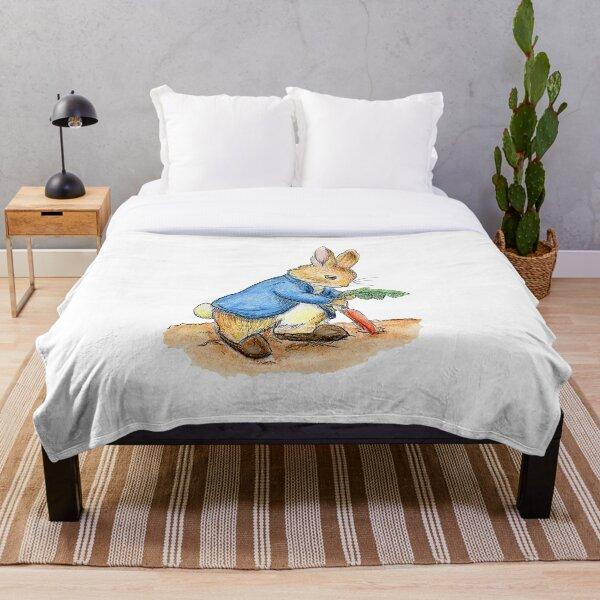 Nursery Characters, Peter Rabbit, Beatrix Potter. Throw Blanket