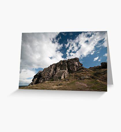 the rugged rocks Greeting Card
