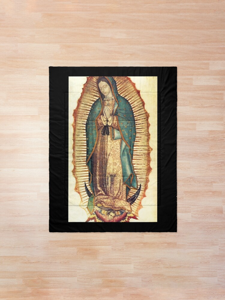 Alternate view of Our Lady of Guadalupe. Virgin Mary. Comforter