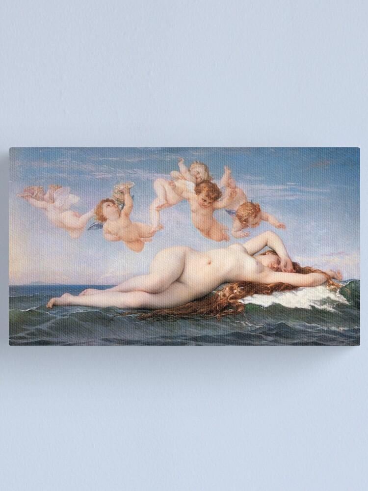 Alternate view of The #Birth of #Venus, Alexandre Cabanel 1875 #TheBirthofVenus #BirthofVenus Canvas Print