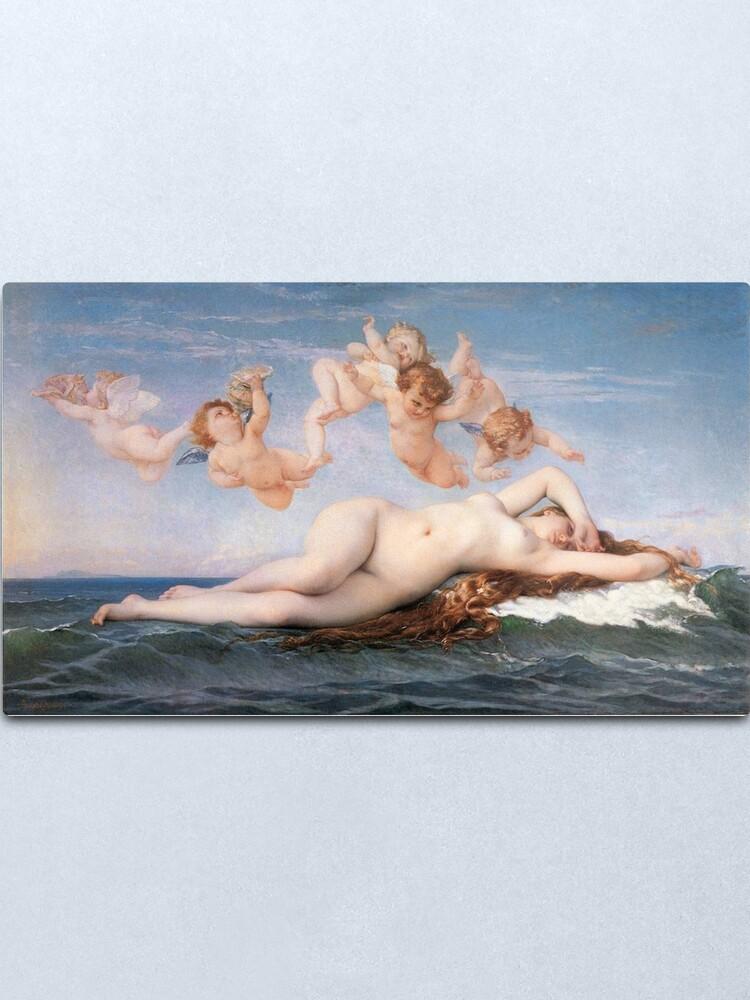 Alternate view of The #Birth of #Venus, Alexandre Cabanel 1875 #TheBirthofVenus #BirthofVenus Metal Print