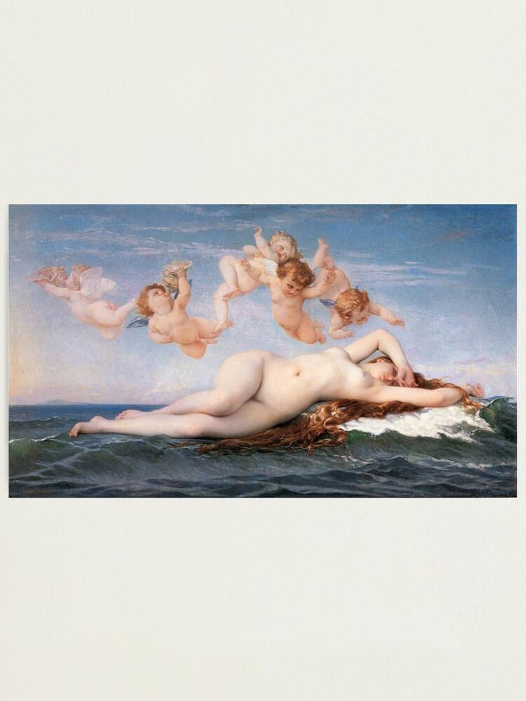 Alternate view of The #Birth of #Venus, Alexandre Cabanel 1875 #TheBirthofVenus #BirthofVenus Photographic Print