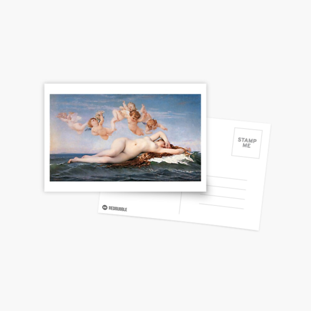 The #Birth of #Venus, Alexandre Cabanel 1875 #TheBirthofVenus #BirthofVenus Postcard