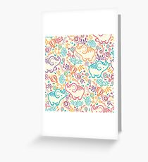 Elephants With Bouquets Greeting Card