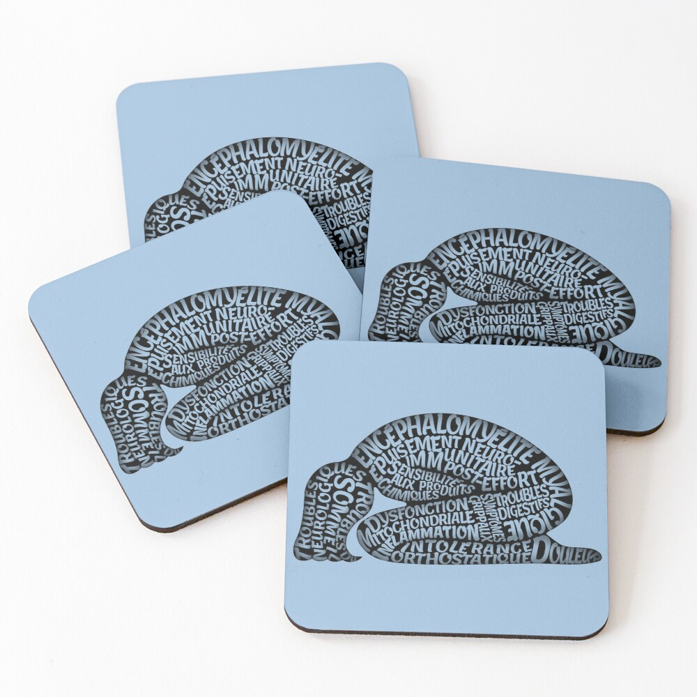 Les ravages de l'EM by Jill Thompson Coasters (Set of 4)