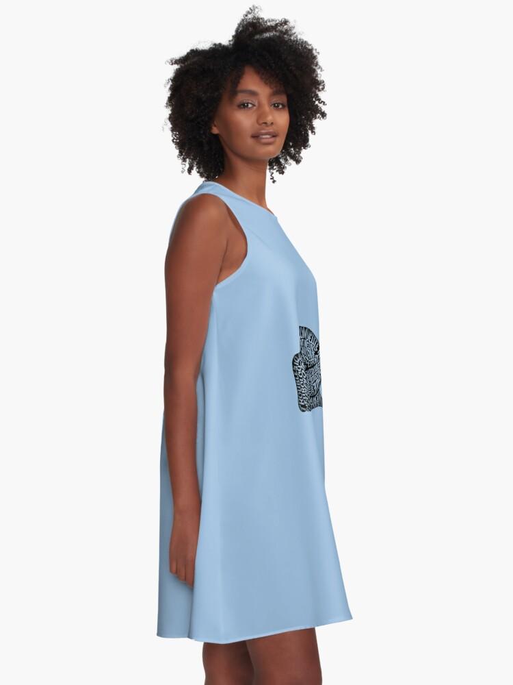 Alternate view of Les ravages de l'EM by Jill Thompson A-Line Dress