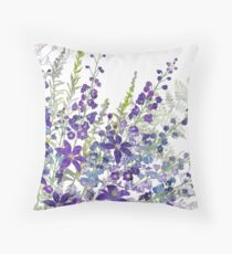 Cluster of Purples Throw Pillow