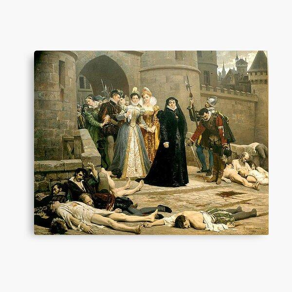 Un matin devant la porte du Louvre - Édouard Debat-Ponsan Canvas Print