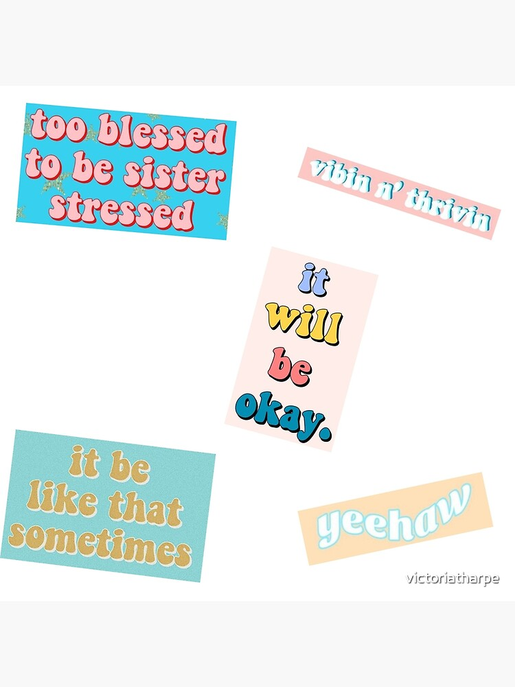picture relating to Vsco Stickers Printable named vsco quotation sticker pack V2 Photographic Print