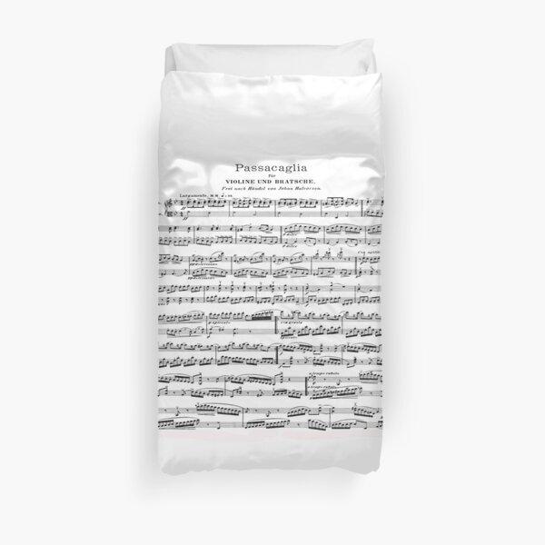 Passacaglia sheet music Duvet Cover