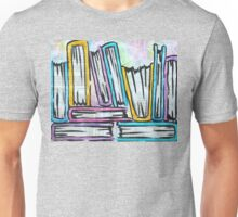Watercolor books on pages Unisex T-Shirt