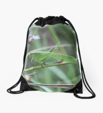 Green Grasshopper Drawstring Bag