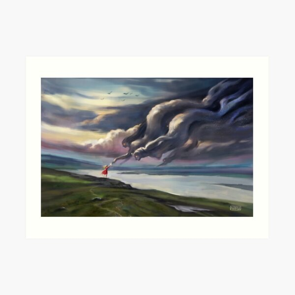Cloud mermaids  Art Print