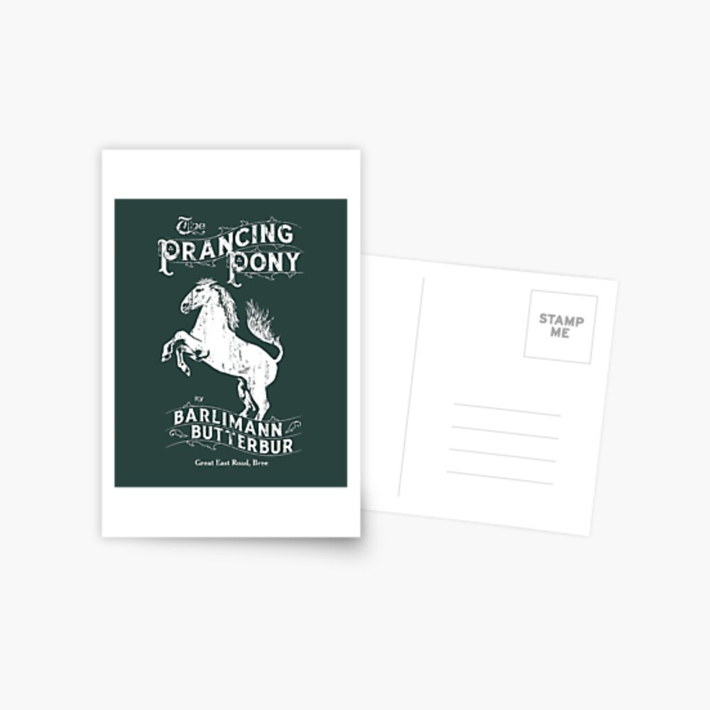 The Sign of the Prancing Pony Postcard