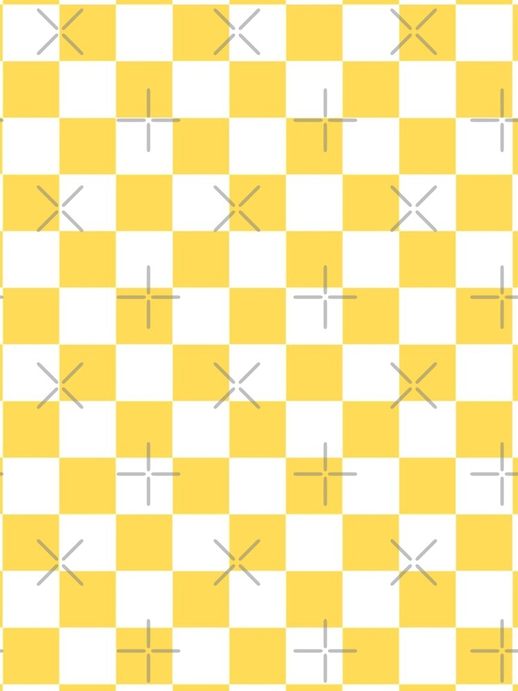 Yellow + White Checkerboard by ravcnclaw