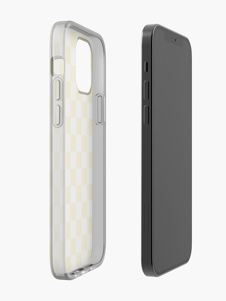 Alternate view of Yellow + White Checkerboard iPhone Case & Cover