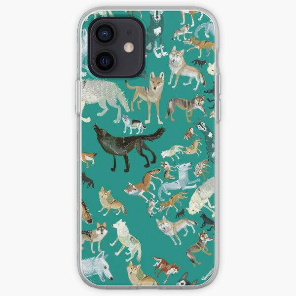 Wolves of the World (Green pattern) iPhone Soft Case