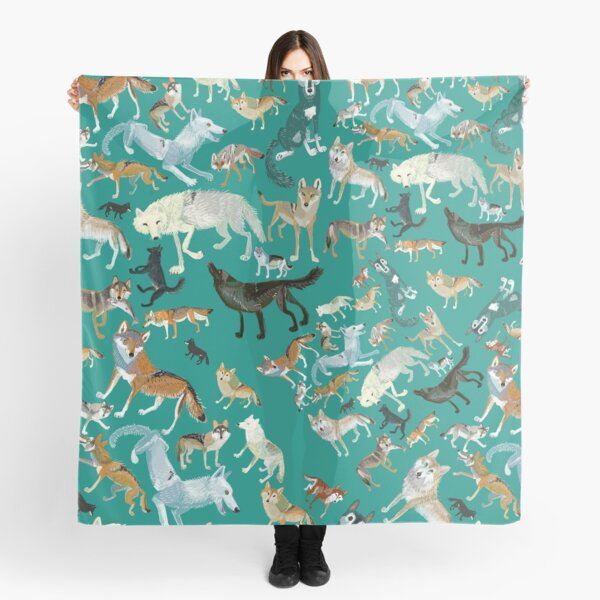 Wolves of the World (Green pattern) Scarf