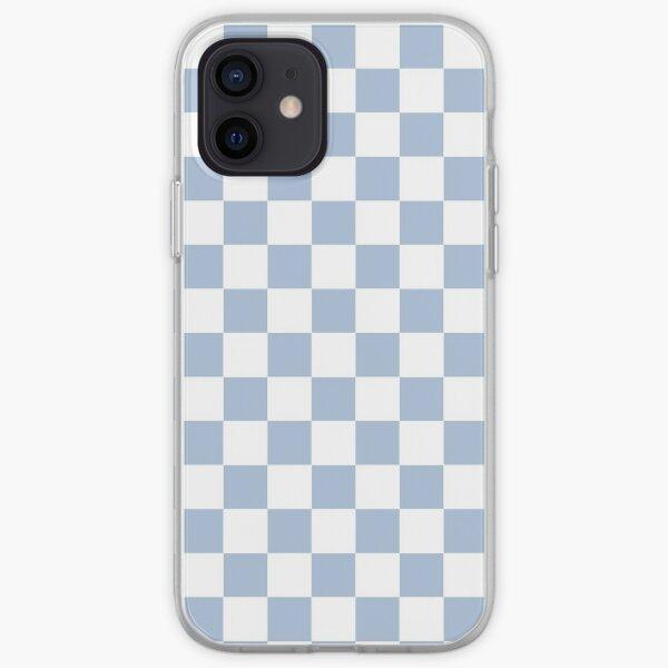 Pastel Blue + White Checkerboard iPhone Soft Case