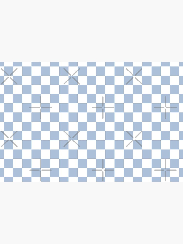 Pastel Blue + White Checkerboard by ravcnclaw