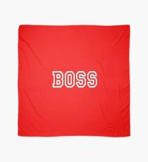 BOSS, The Boss, The Governor, CEO, In charge, The Chief, Obey! On Red Scarf