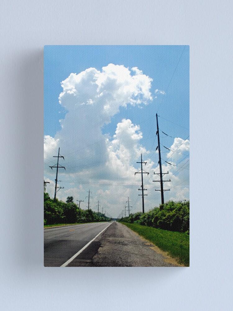 Alternate view of Electric Landscape Canvas Print