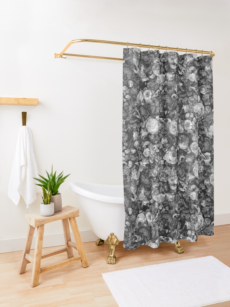Alternate view of Baroque Macabre II Shower Curtain